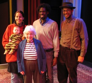 Dena Epstein, front, with the Carolina Chocolate Drops in October 2009